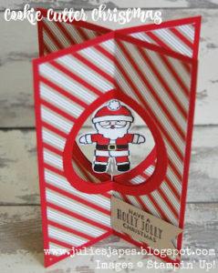 #stampmecrafty.com, #stampinup, #funfoldcard, #cookiecutterchristmas, #candycanelane