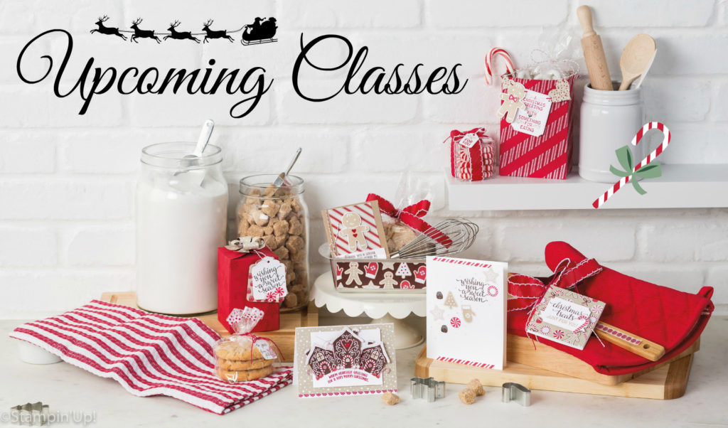 Holiday Classes, Upcoming Classes at StampMeCrafty, #stampinup, #stampmecrafty