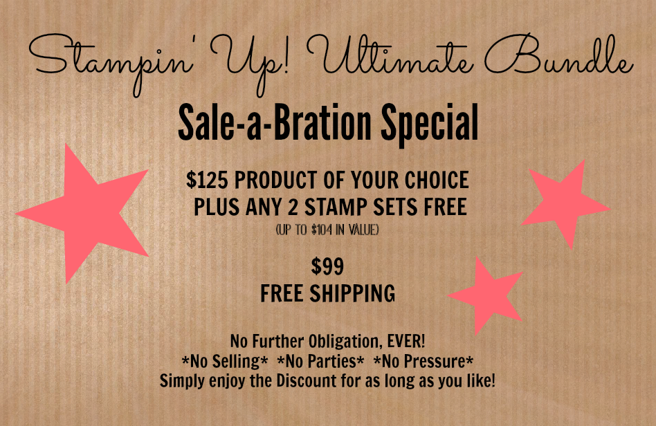 stampin' up, sale-a-oration, join my team, the crafty stampers, ultimate bundle deal, stampmecrafty.com