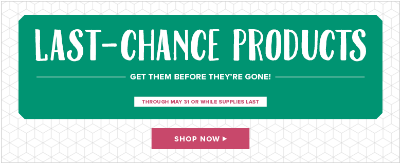 last chance, retired products, stampin' up!, terri george, shop now