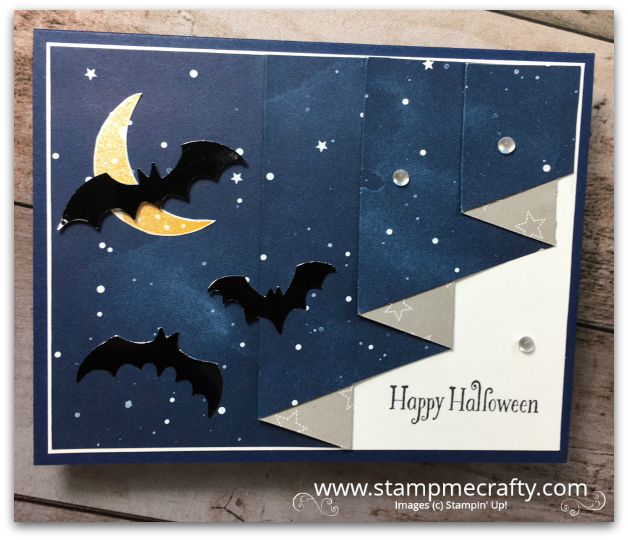 Pals October Blog Hop, Wicked Folds, Halloween, Stampmecrafty.com, Stampin' Up!, Terri George, Handmade Cards