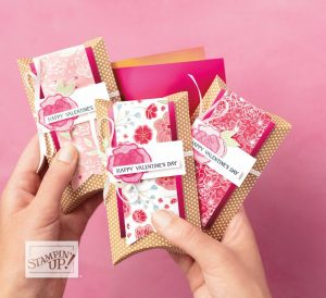 valentines day, stampin' up!, stampin up, quick and easy treat holders, valentine treat holders