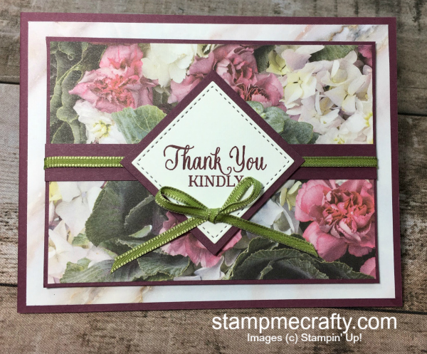 Stamp Me Crafty, Terri George, stampin' up!, handmade cards, thank you cards, petal promenade paper, quick and easy cards, #simplestamping