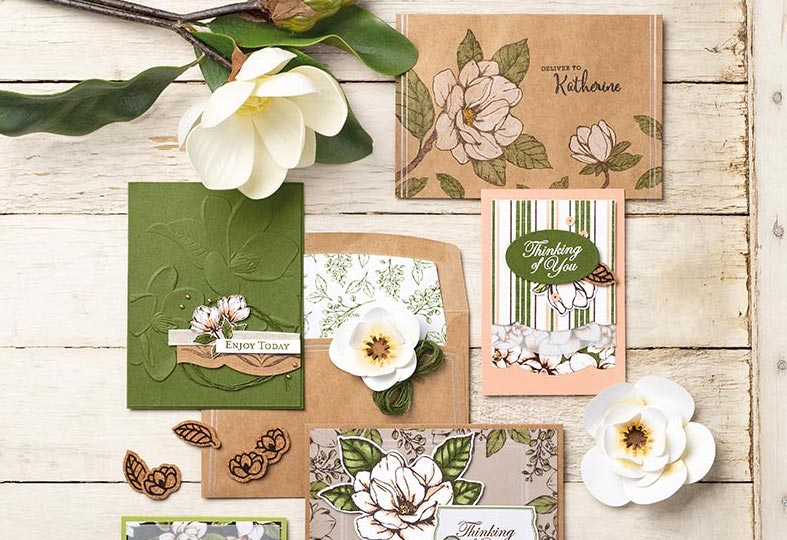 good morning magnolia suite by stampin up, terri george, stampmecrafty.com handmade cards, card class, magnolia lane cards & more