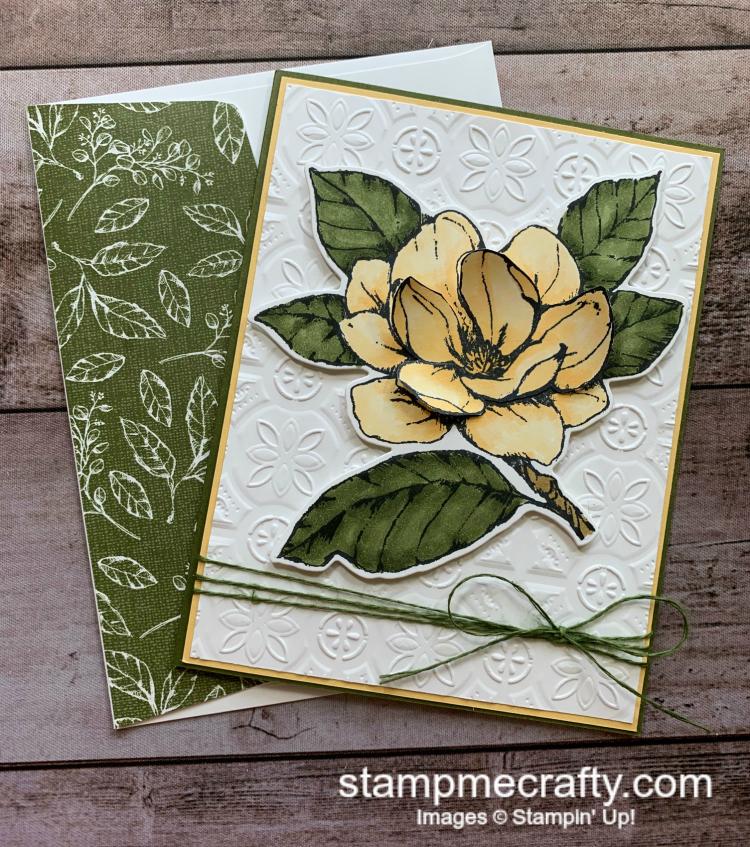 Tin Tile 3D Magnolia Card, Magnolia Lane, Good Morning Magnolia Bundle, Handmade Cards, Cards with Texture, Pals Blog Hop