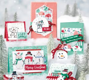 snowman season stamp set