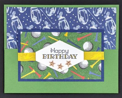 Country Club Birthday, Split Fold, Fancy Fold Card, Handmade Cards, Masculine Cards, Stampin' Up!, Stamp Me Crafty, Terri George